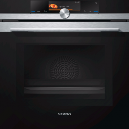 SIEMENS HB678G4S1B iQ700 60 cm Single oven with microwave & pulseSteam Black, stainless steel