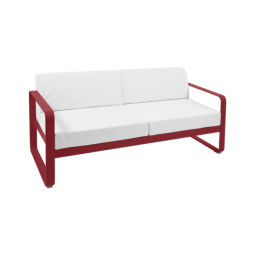 Fermob BELLEVIE 2 Seaters Sofa with Off-White Cushions