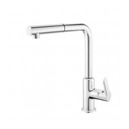 KeraDomo 92 One Lever Mixer Tap FINO Chrome With Ext. Outlet
