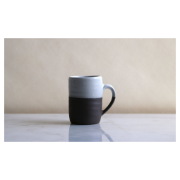 Jono Pandolfi Coffee Mug – Dark Brown/White